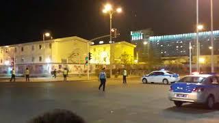 Перекрытие улиц в Астане, спецназ прибыл на место