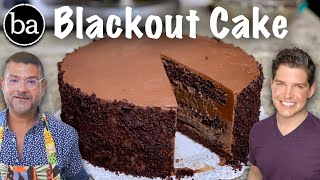 chocolate cake with sour cream and pudding