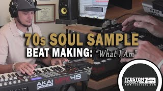 "Sexy 70s Soul R&B Sample Hip Hop Beat Making Video - ""What I Am"" (prod. by TCustomz) - MPD32, MPK49"