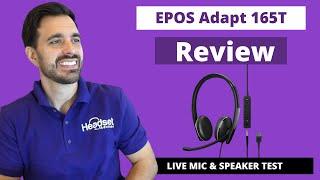 EPOS Adapt 165 Dual Speaker USB Computer Headset Review - LIVE MIC & SPEAKER TEST!