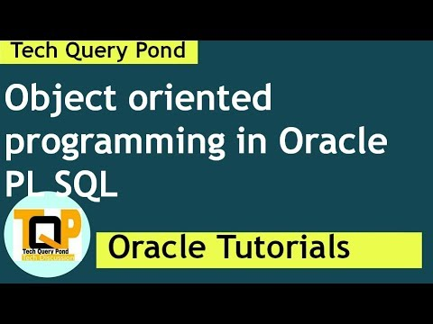 Oracle tutorial : Object oriented programming in Oracle PL SQL