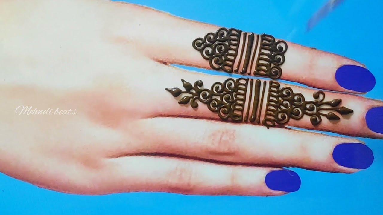latest new finger mehndi design by mehndi beats