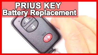 How to Prius Smart Key, Battery Replacement Tutorial on 2010-2015