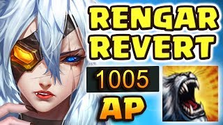 Gambar cover OLD RENGAR IS BACK!! RIOT WHAT HAVE YOU DONE?! 1000+ AP RENGAR REVERT JUNGLE LEGENDARY DOUBLE 1-SHOT