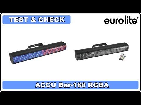Test & Check - Eurolite Accu Bar 160 RGBA