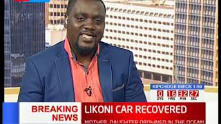 Likoni Car Recovered: Efforts to pull out car successful
