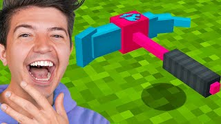How to Craft the $1,000,000 MrBeast Gaming Pickaxe! - Minecraft