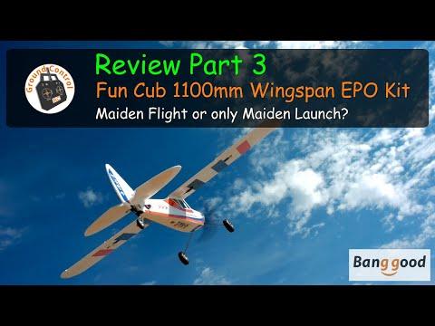 Fun Cub 1100mm Wingspan EPO Kit from Banggood - Review Part 3 - Maiden Flight