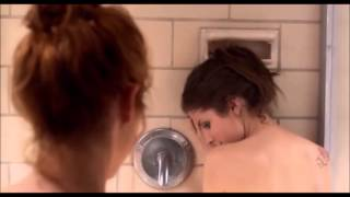 Titanium - Chloe and Beca - the bathroom scene