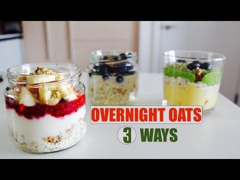 Video OVERNIGHT OATS 3 WAYS // Dairy Free, Gluten Free, Healthy, Nourishing