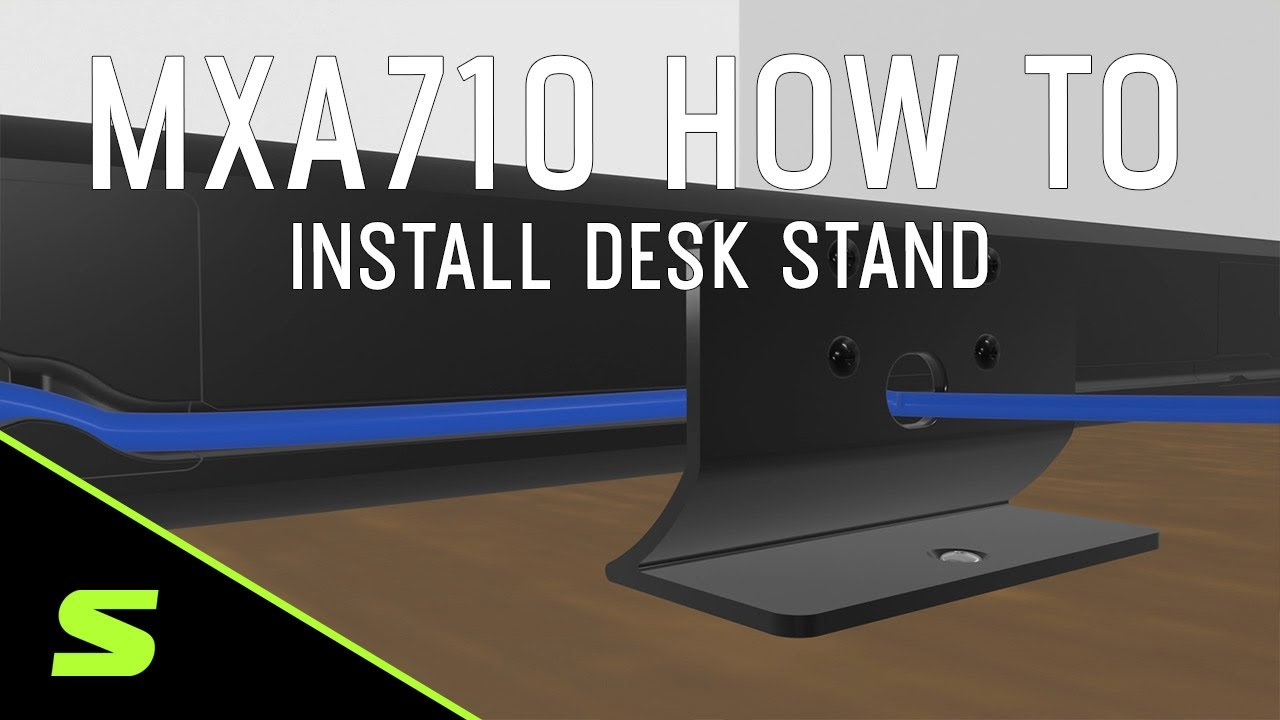 Shure MXA710 How To Install the Desk Stand