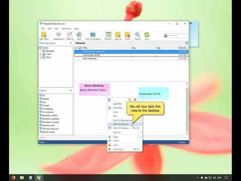 Organizing sticky notes inside memoboards (folders)
