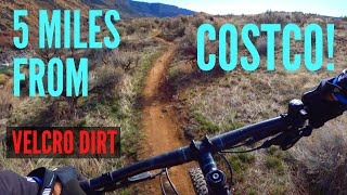 Fantastic singletrack along the Snake River at the Auger Falls Trail System