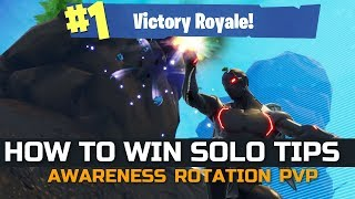 Solo HOW TO WIN Tips | Awareness Fortnite Battle Royale