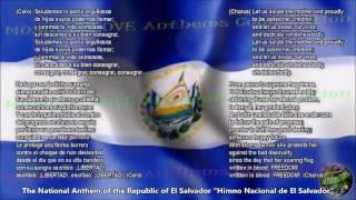 El Salvador National Anthem with music, vocal and lyrics Spanish w/English Translation