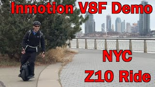 Inmotion V10F in NYC, demo Inmotion V8F, and I get to ride Hsiang's Z10!