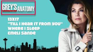 "Grey's Anatomy Soundtrack - ""Where I Sleep"" by Emeli Sande (13x17)"