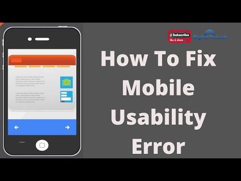 How to Fix mobile usability Error