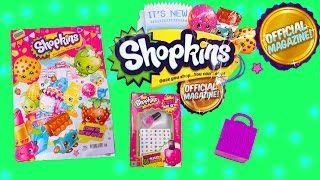 Shopkins Official MAGAZINE Season 1&2 Surprise Mystery Blind Bag Nail Polish Stickers Toy Video