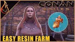 Easy Resin Farm Conan Exiles 2018 Beginner Tips