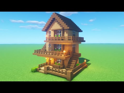 Minecraft Tutorial How To Make A Wooden Survival House 2020 Tutorial Minecraftvideos Tv