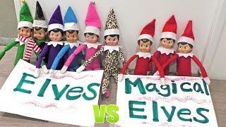 Elf On The Shelf FLYING Contest - Magical Elves Vs Regular Elves   DavidsTV