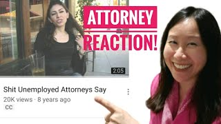 """SHIT UNEMPLOYED ATTORNEYS SAY"" Lawyer Reacts to Viral Video. Legal Job Market Truth U San Francisco"
