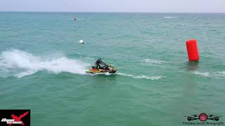 Day 2 AquaX Enduro Jet Ski Race Running Top Speed 4K Drone Footage Michigan City, Indiana Must See!
