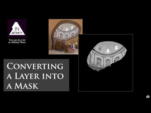Converting a Layer to a Mask in Affinity Photo