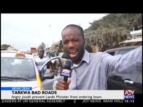 Tarkwa Road Block - News Desk on JoyNews (26-9-18)