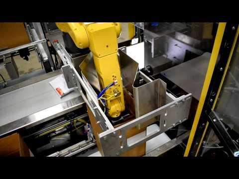 Empaque Robótico Y Paletizado De Cajas Con 2 Líneas
