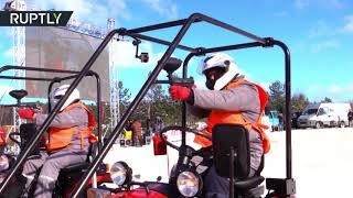 RAW: World's first ever tractor biathlon held in Belarus