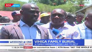 4 family members being laid to rest in Vihiga after being slain in Busamu Village