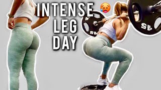 INTENSE LEG/GLUTE DAY! WORKOUT WITH ME!