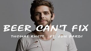Thomas Rhett    Beer Can't Fix (Lyric Video) Ft  Jon Pardi