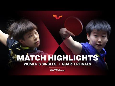 Sun Yingsha vs Wang Yidi | WTT Macao Quarterfinals HIGHLIGHTS