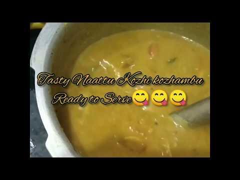 Easy & Tasty Naatu Kozhi Kuzhambu | Country Chicken Curry | Tamil |