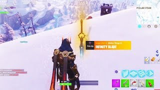 """INFINITY BLADE"" UPDATE! *NEW* 7.01 Ice King SWORD Patch! Fortnite Season 7 Live Gameplay"