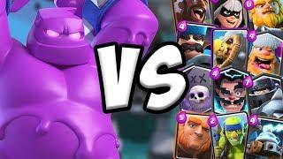 Elixir Golem GAMEPLAY vs All Cards   Clash Royale