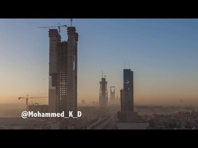 """تصوير لمدينة الرياض بطريقة  """"تايم لابس"""""""