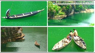 Wonder of Meghalaya - greenish blue waters of Umngot River