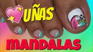 Unas Delos Pies Decoradas Con Mandalas Free Online Videos Best