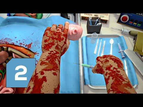 Marťa a Lůko opět operují v Surgeon Simulator a našli v hrudním koši tajemnou věc s pusou