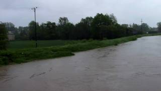 preview picture of video 'Powódź w Czechowicach-Dziedzicach most na Iłownicy II'