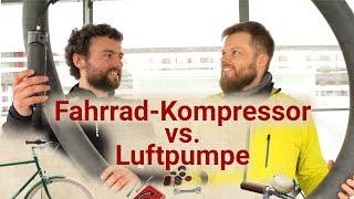 Akku-Luftpumpe gegen Handpumpe – Wer ist schneller?