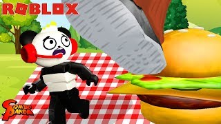GIANT FOOD OBBY IN ROBLOX! Escape the Picnic Obby ! Let's Play Roblox with Combo Panda