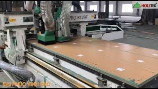 MÁY CNC NESTING IN TEM HOLZTEK. MÁY CNC TRUNG TÂM IN TEM TỰ ĐỘNG GẮP PHÔI RA VÁN