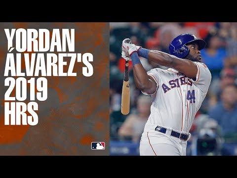 All of 2019 AL Rookie of the Year Yordan Álvarez's home runs!