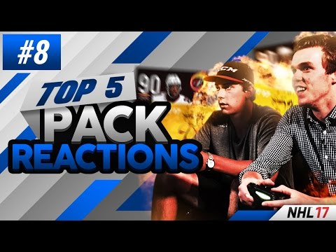 NHL 17 - TOP 5 PACK REACTIONS EPISODE #8