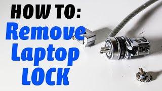 How to remove a laptop (Kensington) lock